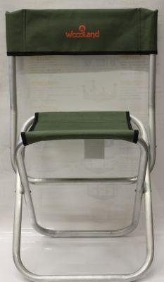 Стул Woodland Tourist ALU MIDI со спинкой (алюминий) ASM-002Кемпинговая мебель<br>Стул Woodland Tourist ALU выдерживает большую нагрузку (до 120 кг), несмотря на небольшие габариты в сложенном виде он раскладывается в удобный стул со спинкой. При этом благодаря алюминевому каркасу он весит всего лишь 1,1 кг. Ткань покрыта водоотталкивающим покрытием.<br>Характеристики<br><br><br><br><br> Max вес пользователя:<br><br><br> 120 кг.<br><br><br><br><br> Вес:<br><br><br> 1,1 кг.<br><br><br><br><br> Все размеры:<br><br><br> 31(Г)х29(Ш)х41/72(В) см<br><br><br><br><br> Высота:<br><br><br> 41/72 см<br><br><br><br><br> Гарантия:<br><br><br> 6 месяцев.<br><br><br><br><br> Каркас:<br><br><br> алюминиевая труба диаметром 22мм.<br><br><br><br><br> Материал:<br><br><br> Oxford 600D с водоотталкивающим ПВХ покрытием<br><br><br><br><br> упаковка габариты см:<br><br><br> 53*46*10<br><br><br><br><br>