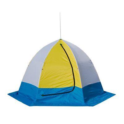 Палатка рыбака Стэк ELITE 2 (п/автомат)Рыболовные палатки<br><br> Палатка рыбака Стэк ELITE 2 (п/автомат) предназначена для зимней рыбалки на льду, отличается эргономичным дизайном и разработана на быстроразборном каркасе зонтичного типа, выполненного из высококачественного материала (дюралевый пруток марки В-95Т1), что обеспечивает необходимую устойчивость и удобство эксплуатации. Вентиляционный клапан, расположенный напротив входа, обеспечивает дополнительный приток воздуха. Внешний тент - синтетическая непродуваемая  ткань (оксфорд 210PU), внутренний - утеплённая ткань (термостёжка).<br><br> Скорость раскрытия и установки палатки не превысит 30 секунд, демонтаж и укладка в чехол не занимает многим больше. <br> На палатке имеется широкая снего/ветрозащитная юбка, а внутри удобное вентиляционное окно на молнии.<br>Характеристики<br><br><br><br><br> Вес:<br><br><br> 3.5 кг.<br><br><br><br><br> Водонепроницаемость:<br><br><br> 2000 мм.<br><br><br><br><br> Все размеры:<br><br><br> 190*225 см.<br><br><br><br><br> Высота:<br><br><br> 150 см.<br><br><br><br><br> Гарантия:<br><br><br> 1 год.<br><br><br><br><br> Каркас:<br><br><br> Алюминиево-дюралевый каркас<br><br><br><br><br> Материал:<br><br><br> Оксфорд 210 PU<br><br><br><br><br> Особенности:<br><br><br> шестигранный каркас. в отличие от обычных палаток СТЭК, полог больше на 20 см.<br><br><br><br><br> Площадь:<br><br><br> 3,27 кв.м.<br><br><br><br><br> упаковка габариты см:<br><br><br> 100*25*25<br><br><br><br><br>