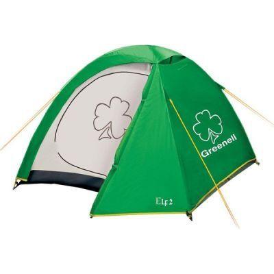 Палатка Greenell Эльф 2 V3Туристические палатки<br><br> Палатка с одним входом и одним тамбуром, противомоскитная сетка на входе. Внутренние карманы для размещения необходимых мелочей. Подвесная полка, петля для фонаря. Новая верхняя ткань со специальной пропиткой защищает от ультрафиолета до 90% (UPF 50+) и препятствует распространению огня.<br><br><br> В комплекте колышки из алюминия. <br><br>Характеристики:<br><br><br><br><br><br><br> Вес:<br><br><br> 3,15 кг.<br><br><br><br><br> Водонепроницаемость:<br><br><br> 4000 мм.<br><br><br><br><br> Все размеры:<br><br><br> Внешняя палатка 200(Д)x150(Ш)x123(В) см, внутренняя палатка 190(Д)x140(Ш)x123(В) см.<br><br><br><br><br> Высота:<br><br><br> 123 см.<br><br><br><br><br> Каркас:<br><br><br> фиберглас 7,9 мм.<br><br><br><br><br> Материал внутренний:<br><br><br> Polyester 190T дышащий.<br><br><br><br><br> Материал пола:<br><br><br> армированный полиэтилен (tarpauling).<br><br><br><br><br> Материал внешний:<br><br><br> Poly Taffeta 190T PU 4000.<br><br><br><br><br> Обработка швов:<br><br><br> проклеенные швы.<br><br><br><br><br> Особенности:<br><br><br> Защита от ультрафиолета<br><br><br><br><br> упаковка габариты см:<br><br><br> 60*15*15<br><br><br><br><br>