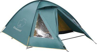 Палатка Greenell Керри 2 V3Туристические палатки<br>Отличная двухместная палатка для туризма Greenell Керри 2 V3. Наличие внешних дуг позволяет сохранять внутреннюю палатку сухой, при установке во время дождя. Увеличенный тамбур с прозрачными окнами, противомоскитная сетка, все швы проклеены. Тент можно устанавливать отдельно. Новая верхняя ткань со специальной пропиткой защищает от ультрафиолета до 90% (UPF 50+) и препятствует распространению огня. Внутри есть карманы для мелочей и подвесная полка.<br> <br> <br> Технические характеристики: <br> Вместимость (человек) 2<br> Материалы каркаса Fiberglass 9,5 mm <br> Конструкция Дуговые<br> Ткань тента Poly Taffeta 190T PU 4000 <br> Ткань пола Tarpauling<br> Ткань палатки Polyester 190T дышащий<br> Вес макс. (кг) 4,4 <br> Водостойкость тента (мм/в.ст.) 4 000<br> Габаритные размеры сумки 63 х 18 х 18 см<br>