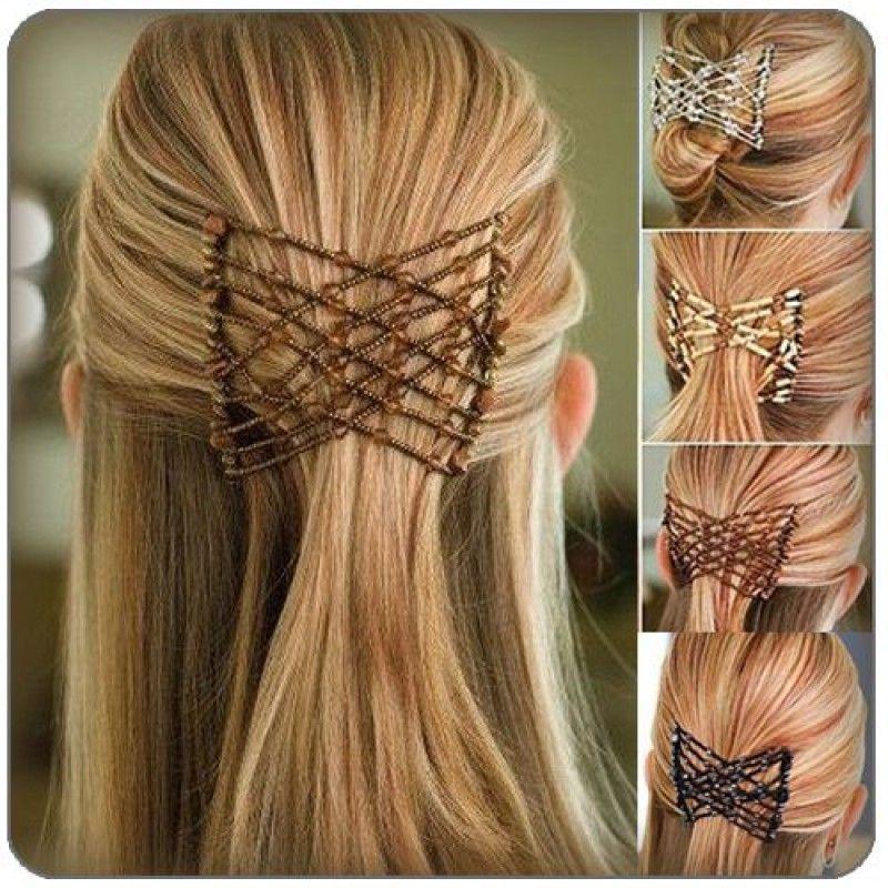 Заколка EZ Combs (Изи Коум), Украшение для волос Изи Хоум, для прически, для длинных волосЗаколки для волос<br>Заколка EZ Combs (Изи Коум). Украшение для волос Изи Хоум.<br> <br>Каждый знает о том, как важно для человека иметь красивые, хорошо уложенные волосы. В домашних условиях делать прическу достаточно сложно, но только не с магическим гребешком Изи Коум. Изи Коум подходит для любого типа волос. Он отлично фиксирует прическу, придает ей неповторимый стиль, элегантность и привлекательность. Какой бы образ жизни вы не вели, эти заколки всегда окажется к месту.<br> <br>Эту своеобразную заколку можно использовать для прямых и вьющихся, коротких и длинных, тонких и жестких волос. Прическа будет держаться надежно. Заколка Изи Коум не создаст дискомфорта, не упадет с волос в самый неподходящий момент. С такой заколкой можно смело отправляться на тренировки. Она прекрасно перекручивается и гнется, что позволяет проявлять фантазию в создании прически.<br> <br>Магический гребешок состоит из двух частей, которые скреплены между собой специальными стрейч-нитями. Эти нити украшены бусинками и бисером. Пользоваться гребешком очень легко. Следует закрепить его с одной стороны волос, растянуть и закрепить на противоположной стороне второй гребень. Всего несколько секунд – и ваша прическа готова. Изи Коум держится в волосах прочно, не причиняя боли и неудобств при движениях.<br>
