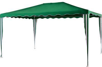 Садовый тент шатер Green Glade 1029Тенты Шатры<br><br> В этом шатре площадью 12 кв. м. комфортно разместится 13 человек.<br><br><br> Садовый тент Green glade 1029 - мобильный помощник для организации отдыха на природе или для работы на открытом воздухе. Сделан из полиэстера, похожий на плотную гардинную ткань, который не пропускает солнечные лучи. Металлический каркас отличается прочностью.<br><br><br> Часто такие шатры используют как тент над бассейном, чтобы туда не попадал мусор, листва, а также чтобы защититься от солнца, а может даже и дождя. А шатры с москитными сетками еще и прекрасно защитят купальщиков от насекомых.<br> В этом шатре, диаметр вписанной окружности которого 3 м, вы сможете разместить круглый бассейн диаметром не более 2,8 м<br><br>Характеристики:<br><br><br><br><br> Вес:<br><br><br> 9 кг.<br><br><br><br><br> Все размеры:<br><br><br> 3(Д)х4(Ш)х2,5(В) м. Площадь - 12 кв. м.<br><br><br><br><br> Высота:<br><br><br> 2,5 м.<br><br><br><br><br> Каркас:<br><br><br> Металлическая трубка (25/18/18 мм). Толщина трубки 0,5 мм. Пластиковые соединения.<br><br><br><br><br> Материал:<br><br><br> Полиэстер 140 г.<br><br><br><br><br> Особенности:<br><br><br> Карниз волнистый.<br><br><br><br><br> упаковка габариты см:<br><br><br> 115*16*19<br><br><br><br><br> Цветовое исполнение:<br><br><br> зеленый.<br><br><br><br><br>