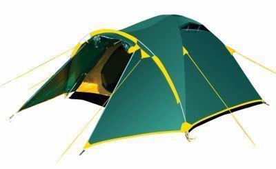 Палатка Tramp Lair 3 TRT-006.04Туристические палатки<br><br> Один из двух тамбуров на дополнительной дуге, с двумя молниями, довольно вместительный. В тамбуре можно разместить рюкзаки, обувь и пользоваться горелкой во время непогоды. Легкая сборка, благодаря системе клипс: внутренняя палатка крепится к дугам, над тамбуром в тент продевается дополнительная дуга, затем при помощи люверсов и колышков натягивается тент.<br><br><br> Особенности:<br><br><br> -Полочка для фонарика или мелких предметов<br> -Система окон с прочной подпоркой на липучке с водозащитном клапаном<br> -Q-образные двери, облегчающие вход и выход<br> -Система молний одно касание - открывайте сетку или дверь с быстротой и легкостью!<br> -Большие вентиляционные окна<br> -Удобные, надежные и легкие узлы крепления<br> -Удобные фиксаторы для открытых дверей<br> -Удобные сетчатые карманы для мелочей<br> -Оттяжки со светоотражателями<br> -Швы проклеены термоусадочной лентой<br> -Клипсы для крепления внутренней палатки к дугам<br><br>Характеристики:<br><br><br><br><br> Вес:<br><br><br> 4,8 кг.<br><br><br><br><br> Водонепроницаемость:<br><br><br> 5000 / 7000 мм в.ст<br><br><br><br><br> Все размеры:<br><br><br> 370*210 см<br><br><br><br><br> Высота:<br><br><br> Тамбур:110 см; Спальное место: 130 см.<br><br><br><br><br> Каркас:<br><br><br> Durapol 8,5 мм<br><br><br><br><br> Материал внутренний:<br><br><br> 100% дышащий полиэстер RipStop<br><br><br><br><br> Материал пола:<br><br><br> 100% полиэстер 75D/190T 10000 мм в ст<br><br><br><br><br> Материал внешний:<br><br><br> 100% полиэстер 75D/190T RipStop 5000 мм в ст<br><br><br><br><br> Обработка швов:<br><br><br> проклеены.<br><br><br><br><br> упаковка габариты см:<br><br><br> 60*20*20<br><br><br><br><br>