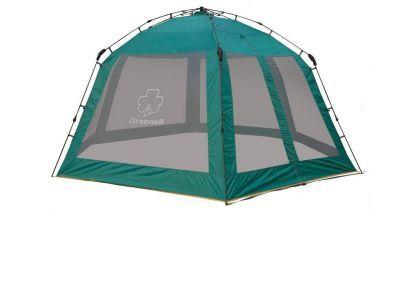 Тент-шатер автомат Greenell Нейс (95285-303-00)Тенты Шатры<br><br> В этом шатре площадью 13,7 кв. м. комфортно разместится 15 человек.<br><br><br> Огромный шатер с москитной сеткой за 1 минуту защитит от солнца и комаров.<br> Огромный тент-беседка с полуавтоматическим каркасом. Легко ставиться одним человеком за 1 минуту. Облегченная регулировка оттяжек со световозвращающей нитью. Москитная сетка по всем сторонам. Круглое, регулироемое по размеру, вентялиционное отверстие на крыше.<br><br><br> Боковая сетка дополнительными шторками от дождя не дублируется. Большое внутреннее пространство позволит разместить внутри стол, стулья ,и даже, при желании второй стол. Т.е. внутри него можно оборудовать и столовую, и кухню.<br><br><br> Часто такие шатры используют как тент над бассейном, чтобы туда не попадал мусор, листва, а также чтобы защититься от солнца, а может даже и дождя. А шатры с москитными сетками еще и прекрасно защитят купальщиков от насекомых.<br> В этом шатре, диаметр вписанной окружности которого 4 м, вы сможете разместить круглый бассейн диаметром не более 3,5 м.<br><br>Характеристики:<br><br><br><br><br> Вес:<br><br><br> 8,4 кг<br><br><br><br><br> Водонепроницаемость:<br><br><br> 3000 мм в.ст.<br><br><br><br><br> Все размеры:<br><br><br> Диаметр описанной окружности 4,6 м, 2,30(В). Площадь - 13,7 кв. м.<br><br><br><br><br> Высота:<br><br><br> 230 см<br><br><br><br><br> Каркас:<br><br><br> Fiberglass 9,5/11 mm<br><br><br><br><br> Материал:<br><br><br> Ткань тента: Poly Ta?eta190T PU 3000<br><br><br><br><br> Обработка швов:<br><br><br> проклеены.<br><br><br><br><br> Особенности:<br><br><br> Огромный шатер с москитной сеткой за 1 минуту защитит от солнца и комаров<br><br><br><br><br> упаковка габариты см:<br><br><br> 100*20*20<br><br><br><br><br>