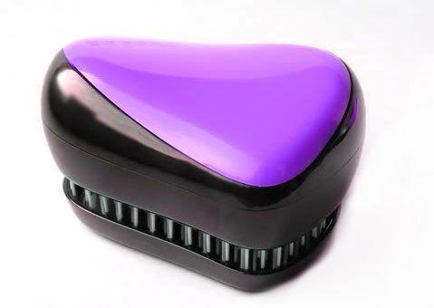 Расческа для волос Compact Styler, фиолетовый, (Компакт Стайлер), для распутывания мокрых и кудрявых волос