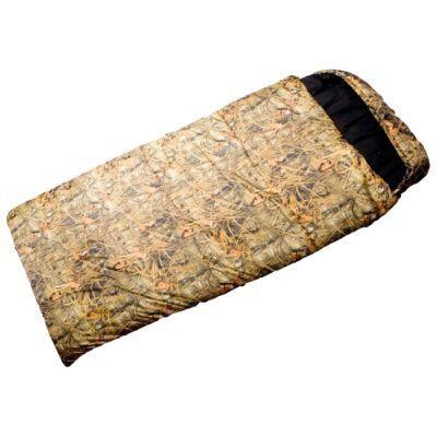 Спальный мешок Prival Берлога КМФ (95см, капюшон, 400 гр./м2)Спальные мешки<br>Спальный мешок БЕРЛОГА (Prival) предназначен для использования в межсезонье. В этом спальном мешке применяется утеплитель ФАЙБЕРПЛАСТ – нетканое полотно, представляющее собой экологически чистый наполнитель, в течение длительного времени сохраняющий свои качества, износостойкий, теплосберегающий, способный восстанавливать форму. Благодаря характеристикам наполнителя, спальный мешок БЕРЛОГА рассчитан на длительную эксплуатацию и выдержит большое количество стирок. Эта модель имеет увеличенные размеры.<br>Характеристики:<br><br><br><br><br><br><br> Вес:<br><br><br> 2,4 кг.<br><br><br><br><br> Все размеры:<br><br><br> 220 см, 95 см<br><br><br><br><br> Гарантия:<br><br><br> 6 месяцев.<br><br><br><br><br> Диапазон температур,С:<br><br><br> Комфорт: +5/ Лимит комфорта: -7/ Экстрим:-15<br><br><br><br><br> Материал:<br><br><br> Poly Dewspa, Смесовая с хлопком<br><br><br><br><br> Наполнитель:<br><br><br> файберпласт<br><br><br><br><br> упаковка габариты см:<br><br><br> 45*35*30<br><br><br><br><br>