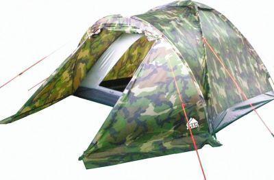 Палатка Trek Planet Forester 2 (70135)Туристические палатки<br><br> Трехместная палатка Trek Planet Forester 2 благодаря камуфляжной расцветке отлично подойдет для охотников и рыболовов. Палатка имеет удобный тамбур для вещей, хорошую вентиляцию и прочный пол. <br><br><br> Очень просто устанавливается.<br><br><br> Оптимальна по цене.<br><br><br> Особенности:<br><br><br>Палатка легко и быстро устанавливается,<br>Тент палатки из полиэстера, с пропиткой PU водостойкостью 1000 мм, надежно защитит от дождя и ветра,<br>Все швы проклеены,<br>Каркас выполнен из прочного стеклопластика,<br>Дно изготовлено из прочного армированного полиэтилена,<br>Палатка оснащена вместительным и защищенным от непогоды тамбуром,<br>Вентиляционное окно сверху палатки не дает скапливаться конденсату на стенках палатки,<br>Москитная сетка на входе в спальное отделение в полный размер двери,<br>Удобная D-образная дверь на входе в палатку,<br>Внутренние карманы для мелочей,<br>Возможность подвески фонаря в палатке.<br>Для удобства транспортировки и хранения предусмотрен чехол с двумя ручками, закрывающийся на застежку-молнию.<br><br>Характеристики:<br><br><br><br><br> Вес:<br><br><br> 2.6 кг<br><br><br><br><br> Водонепроницаемость:<br><br><br> 1000 мм.<br><br><br><br><br> Все размеры:<br><br><br> 210+90(Д)x150(Ш)x110(В) см.<br><br><br><br><br> Высота:<br><br><br> 110 см.<br><br><br><br><br> Каркас:<br><br><br> фиберглас 7,9 мм.<br><br><br><br><br> Материал:<br><br><br> 100% полиэстер, пропитка PU.<br><br><br><br><br> Материал пола:<br><br><br> армированный полиэтилен (tarpauling).<br><br><br><br><br> Обработка швов:<br><br><br> Все швы проклеены.<br><br><br><br><br> Особенности:<br><br><br> Возможность подвески фонаря в палатке.<br><br><br><br><br> упаковка габариты см:<br><br><br> 63*12*12<br><br><br><br><br>