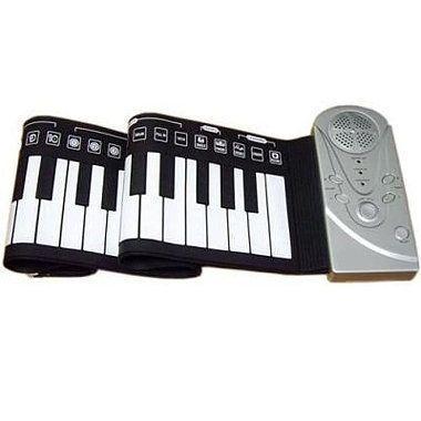 Пианино гибкое Bradex Flexible PianoГибкое пианино<br>Cинтезатор гибкое пианино Bradex Flexible Piano<br> <br>Силиконовое гибкое пианино - синтезатор – новая веха в истории переносных развлекательных музыкальных устройств. Гибкая клавиатура здесь реализована с 49 полноценными клавишами, совсем как и у настоящего инструмента. Всего же, вместе с управляющими клавишами – Bradex может похвастать 61 клавишей. 29 белых и 20 черных. <br>  <br> <br>  <br> Силиконовая водостойкая клавиатура делает синтезатор супер легким, компактным и мобильным. Этот переносной музыкальный инструмент легко можно поместить при переноске в любую небольшую сумку или рюкзачок, а для его хранения дома практически не потребуется никакого места. Полностью гибкое пианино само воспроизводит и само записывает музыку, его возможности довольно приличны – это и 128 тонов, 100 ритмов, возможность проигрывания через динамик или через наушники как мелодий из записи, так и вживую.Настоящее молодежное пианино нового поколения с гибкой клавиатурой, которая навсегда решает все проблемы музицирования для любой веселой компании. <br>  <br> <br>  <br> Играйте где угодно, прямо на улице, на вечеринке, ведь все что требуется - это ровная поверхность. Устройство можно запитать как от сети, так и от обычных пальчиковых батареек. Автономного питание от 4 батареек типа АА хватит на 5 часов непрерывного музыкального веселья. <br>  <br> <br>  <br> Отличный подарок для юного музыканта и меломана. Заказывайте на сайте, звоните, дарите возможность ребятам наслаждаться музыкой и запечатлевать свои творческие порывы с использованием уникального компактного инструмента везде и всегда. <br>  <br>  <br>    <br>   Комплектация Flexible Piano:<br> <br> <br>   Гибкое пианино<br> <br>   Адаптер к сети 220В<br> <br>   Инструкция<br> <br> <br>Для оптовых покупателей<br> <br>Чтобы купить гибкое пианино оптом, необходимо связаться с нашими операторами по телефонам, указанным на сайте. Вы сможете получить значительную скидку от розничной 