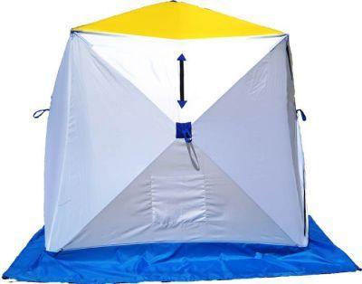 Палатка для зимней рыбалки Стэк Куб-2 трехслойнаяРыболовные палатки<br>Палатка для зимней рыбалки Стэк Куб-2 трехслойная позволяет рыбакам рационально использовать пространство. Сверлить лунки теперь можно прямо в установленной палатке. Габариты палатки позволяют делать это без каких-либо неудобств. В отличии от классических палаток-зонтиков, палатка-куб более ветроустойчива. Благодаря своей конструкции палатка выдерживает порывистый ветер. Из удобств - теперь при сборке палатки Вам не нужно заботиться о том, чтобы ткань была расправлена и случайно не зажата прутками, поэтому сборка происходит ещё быстрее. Все палатки Стэк Куб трехслойные выполнены из синтетической ткани Oxford 300PU с водонепроницаемой пропиткой, внутренние два слоя представляют собой стеганое полотно из синтепона и подкладочной ткани таффета (термост?жка). Каркас изготовлен из cтеклопластика с добавлением карбона. Это обеспечивает долговечность и непродуваемость палатки.<br>Характеристики<br><br><br><br><br> Вес:<br><br><br> 7.1 кг.<br><br><br><br><br> Водонепроницаемость:<br><br><br> 3000 мм.<br><br><br><br><br> Все размеры:<br><br><br> 185*185 см.<br><br><br><br><br> Высота:<br><br><br> центр - 180 см, по ребру 150 см<br><br><br><br><br> Гарантия:<br><br><br> 1 год.<br><br><br><br><br> Каркас:<br><br><br> cтеклопластик с добавлением карбона<br><br><br><br><br> Материал внутренний:<br><br><br> стеганое полотно из синтепона и подкладочной ткани таффета (термост?жка)<br><br><br><br><br> Материал внешний:<br><br><br> Oxford 300PU<br><br><br><br><br> Особенности:<br><br><br> Вентиляционный клапан, два кармана для мелочей<br><br><br><br><br> Площадь:<br><br><br> 3,42 кв.м.<br><br><br><br><br> упаковка габариты см:<br><br><br> 130*30*30<br><br><br><br><br>