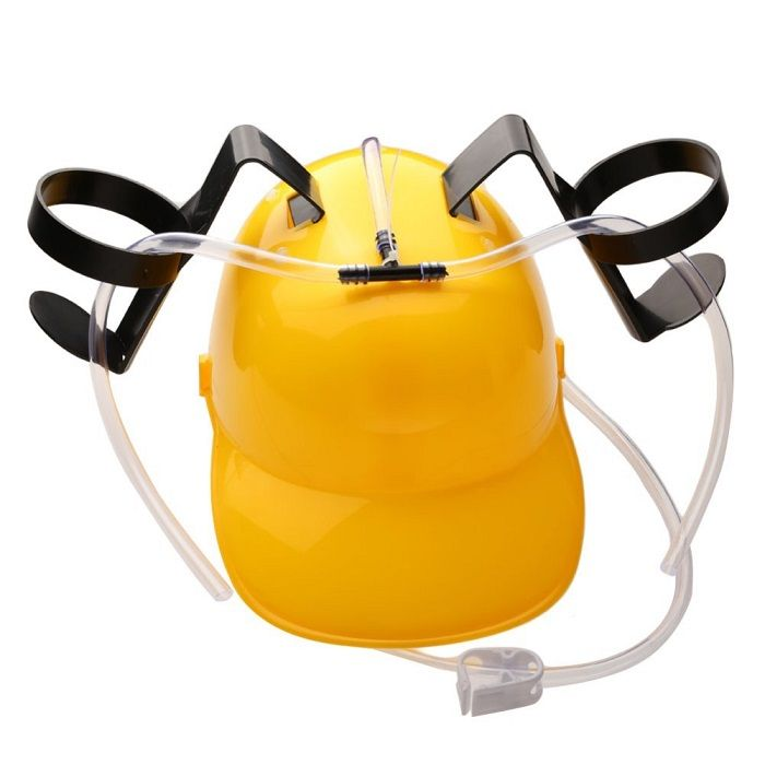 Шлем для болельщиков Пивная каска (желтая)Пивные каски<br>Шлем для болельщиков Пивная каска (желтая)<br><br> <br><br><br>Пивной шлем – это забавный и практичный для ленивых людей головной убор. Прибыл к нам с Америки, где он пользуется огромной популярностью в местах проведения спортивных состязаний. Основной плюс такого головного убора, это способность полностью освободить руки, не держа в них напитки. В нашей стране, данный головной убор придётся по душе любителям футбольных, хоккейных и прочих состязаний. Это один из лучших товаров в качестве подарка, он забавный и весьма практичный.<br><br><br> <br><br><br>Пивная каска выполнена из ударопрочного материала и имеет два крепления для банок, которые соединены трубками. С помощью этого оригинального аксессуара можно установить на голове две банки напитка по 0,5 л и не спеша потягивать их содержимое через трубочку. Шлем для болельщиков крепится на голове фиксирующим ободком.<br><br> <br> Особенности пивной каски:<br><br>- 2 подставки<br><br><br>- 2 соединительные трубочки<br><br><br>- Регулируемый фиксирующий ободок<br><br><br>- Ударопрочный материал<br><br> <br> Как пользоваться?<br><br>Поставьте открытую банку в подставку шлема и опустите конец трубки в банку. <br><br><br>Наденьте шлем, закрепите его с помощью фиксирующего ободка и наслаждайтесь любимым напитком.<br><br><br> <br><br>Для оптовых покупателей:<br><br>Чтобы купить шлем для болельщиков оптом, необходимо связаться с нашими операторами по телефонам, указанным на сайте. Вы сможете получить значительную скидку от розничной цены в зависимости от объема заказа.<br><br><br>Для получения информации о покупке товаров посетите раздел Оптовых продаж<br><br>