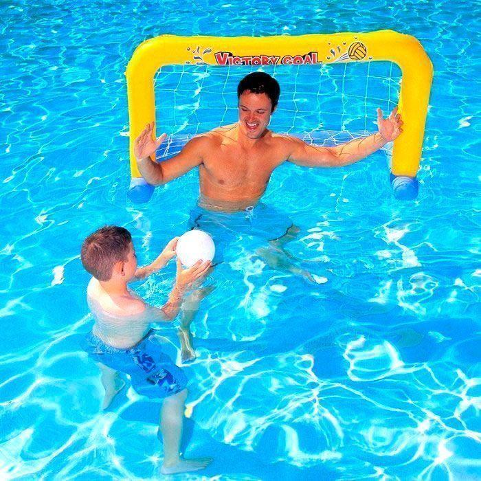 Надувной набор для игры в поло Water Polo FrameТовары для отдыха<br><br>    <br>  <br><br>Хотите научить ребёнка играть в водное поло?<br><br><br><br>С надувным набором для игры в поло Water Polo Frame Вы с успехом это сделаете!<br><br><br><br><br><br><br><br>В набор входит все необходимое для игр на воде: ворота с сеткой и мяч. Надувные ворота выполнены из прочного безопасного винила.<br><br>Набор для весёлого времяпрепровождения детей и взрослых летом. Полный комплект и компактный размер позволяет брать набор с собой.<br><br>Сделайте лето ребёнка незабываемым!<br>    <br>  <br><br>Отличительные особенности:<br>-Для игры в поло<br><br>- Надувные ворота с сеткой<br>  <br>-Мяч в комплекте<br>      <br>    - Предохранительные клапаны<br><br>      <br>    <br>  <br>            Способ применения:<br>          <br>          <br>        <br>          Заполните ворота воздухом так, чтобы они были твёрдыми на ощупь. Закройте клапан пробкой и вдавите его внутрь. При сдувании выньте пробку и сожмите клапан с боков у основания, пока не выйдет весь воздух. После сдувания протрите изделие влажной тряпкой.<br>        <br>          <br>            <br>          <br>        <br>          С надувным набором для игры в поло Water Polo Frame Вы весело проведёте время и приведёте себя в тонус!<br>        <br>          Комплектация:<br>                <br>              Надувные ворота для игры в водное поло - 1 шт.<br>              <br>            Мяч для игры в водное поло - 1 шт.<br>              <br>            Предохранительные клапаны<br>              <br>            Оригинальная англоязычная упаковка с русской наклейкой со штрих-кодом<br>        <br>          <br>                <br>              <br>        <br>          Технические характеристики:<br>        <br>          Цвет: ворота - жёлтый с надписью, синий, мяч - белый<br>              <br>            Вес: 730 гр.<br>              <br>            Размер упаковки: 19,7*5,0*20 см;<br>              <br>            Материал: ви