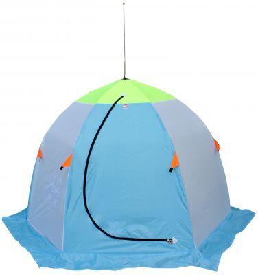 Палатка для зимней рыбалки Медведь-2 Оксфорд 210Рыболовные палатки<br><br> Все рыболовы знают, что без зимней палатки на подледной рыбалке не обойтись. Ведь просидеть пару часов в морозный день на пронизывающем ветре будет сложно даже для профессионалов, что уж говорить про новичков.<br><br><br> Сейчас производители палаток рыбака предлагают надежные и комфортные укрытия, максимально адаптированные к условиям, в которых проходит зимний клёв.<br><br><br> Мы предлагаем Вам обратить внимание на палатку для зимней рыбалки Медведь-2 Оксфорд 210. Этодвухместная шестилучевая палатка «зонт». Палатки такого типа отличаются лёгкостью и быстротой сборки – установка займет у вас не более 2х минут!<br><br><br> Палатка для зимней рыбалки Медведь-2 Оксфорд 210 сделана из двух видов материала: стенки изготовлены из прочной ткани Oxford 210D с водоотталкивающей пропиткой, верхушка – из Гретты (это ткань отличается своими дышащими свойствами, а значит, внутрь палатки всегда будет поступать свежий воздух).<br><br><br> Осуществлять вентиляцию внутри палатки помогает вентиляционное окно на двухсторонней молнии, расположенное напротив входа.<br><br><br> Достаточно широкая юбка палатки Медведь 2, которая составляет 20 см, не позволит ледяному ветру проникать внутрь палатки, но не забудьте присыпать её снегом!<br><br><br> Для лучшей ветроустойчивости рекомендуется также поставить палатку на растяжки и ввёртыши (они в комплект не входят).<br><br><br> На стенке палатки размещены 2 удобных кармана, чтобы нужные вам вещи всегда были под рукой.<br><br><br> Выбирайте палатку Медведь 2 и наслаждайтесь зимней рыбалкой!<br><br><br> Внимание ! Цвет может отличаться от указанного на фото !<br><br>Характеристики<br><br><br><br><br> Вес:<br><br><br> 3,2 кг.<br><br><br><br><br> Водонепроницаемость:<br><br><br> 1000 мм.<br><br><br><br><br> Все размеры:<br><br><br> 220*190 см.<br><br><br><br><br> Высота:<br><br><br> 145 см.<br><br><br><br><br> Гарантия:<br><br><br> 6 месяцев.<br><br><br><br><br> Каркас:<b