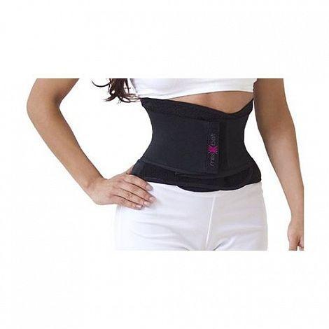 Утягивающий пояс для похудения Miss Belt (корсет песочные часы Мисс Белт ) черный S/M, корректирующее белье для талии