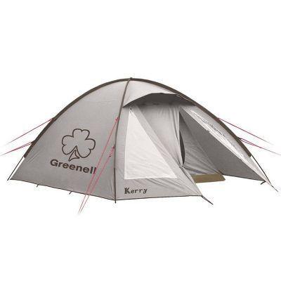 Палатка Greenell Керри 4 V3Туристические палатки<br><br> Наличие внешних дуг позволит сохранить внутреннюю палатку сухой, при установке во время дождя. Увеличенный тамбур с прозрачными окнами, противомоскитная сетка, все швы проклеены. Возможна  отдельная установка тента. Новая верхняя ткань со специальной пропиткой защищет от ультрафиолета до 90% (UPF 50+)  и препятствуюет распространению огня. Параметры внутренней палатки: 215 х 240 х 140 см.<br><br><br> В комплекте колышки из алюминия. <br><br>Характеристики:<br><br><br><br><br><br><br> Вес:<br><br><br> 5,8 кг.<br><br><br><br><br> Водонепроницаемость:<br><br><br> 4000 мм. водяного столба.<br><br><br><br><br> Все размеры:<br><br><br> Внешняя палатка 375(Д)x250(Ш)x150(В) см, внутренняя палатка 215(Д)x240(Ш)x140(В) см.<br><br><br><br><br> Высота:<br><br><br> 150 см.<br><br><br><br><br> Каркас:<br><br><br> фиберглас 9,5 мм.<br><br><br><br><br> Материал внутренний:<br><br><br> Polyester 190T дышащий.<br><br><br><br><br> Материал пола:<br><br><br> армированный полиэтилен (tarpauling).<br><br><br><br><br> Материал внешний:<br><br><br> Poly Taffeta 190T PU 4000.<br><br><br><br><br> Обработка швов:<br><br><br> проклеенные швы.<br><br><br><br><br> Особенности:<br><br><br> Защита от ультрафиолета.<br><br><br><br><br> упаковка габариты см:<br><br><br> 65*23*23<br><br><br><br><br>