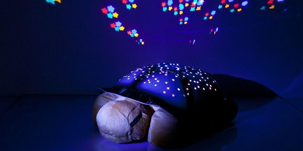 Ночник проектор звездного неба Музыкальная черепаха (Turtle Night Sky) бежевая