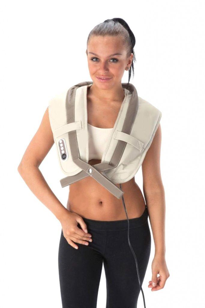 использование массажера для шеи и плеч