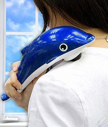 Инфракрасный ручной массажер для тела Дельфин
