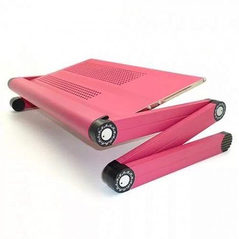 Столик для ноутбука складной трансформер розовый купить белгород массажер для ног