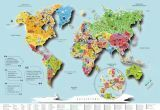 Стирательная (Стиральная) карта мира (Русский язык) blue 3D